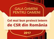 Gala Oameni pentru Oameni, 2017 - Cel mai bun proiect intern de CSR din România