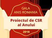 Gala ANIS Romania, 2018 - Proiectul de CSR al Anului